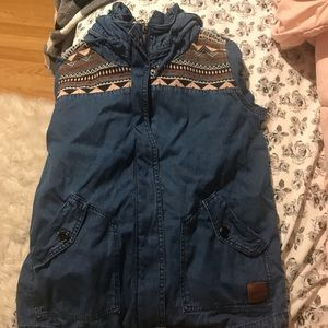 Roxy jean hooded jacket
